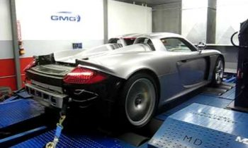 Porsche Carrera GT with GMG World Challenge exhaust system on Dyno