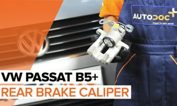 How to replace a rear brake caliper on VW PASSAT B5+ TUTORIAL | AUTODOC