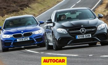 2018 BMW M5 vs Mercedes-AMG E63 S | Super Saloons tested | Autocar