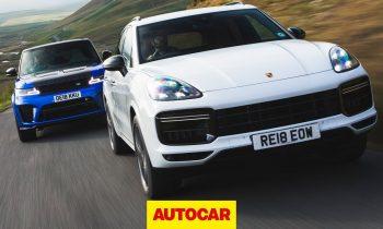 Porsche Cayenne Turbo vs Range Rover Sport SVR – £100k SUVs reviewed | Autocar