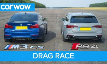 BMW M3 CS vs Audi RS4 – review & DRAG RACE, ROLLING RACE & BRAKE TEST
