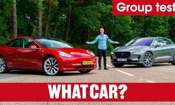 2019 Tesla Model 3 vs Jaguar I-Pace SUV review – which is best? Electric car showdown   What Car?