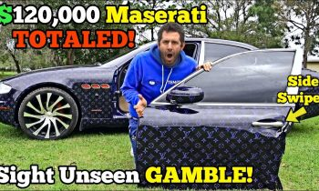 I Bought a Cheap HAIL TOTALED MASERATI from Auction! It came Pimped Out with FAKE Louis Vuitton!