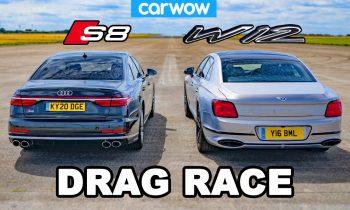 Audi S8 vs Bentley Flying Spur – DRAG RACE *V8 vs W12*