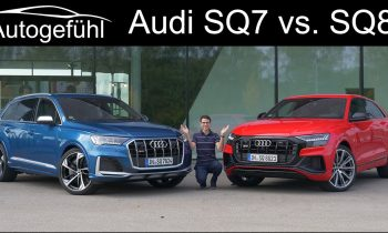 Audi SQ8 V8 vs SQ7 V8 comparison REVIEW petrol performance SUVs 2021 – Autogefühl
