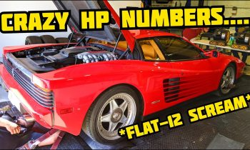 32-YEAR-OLD Ferrari Testarossa goes on a DYNO! Guess How Much HP it made?!
