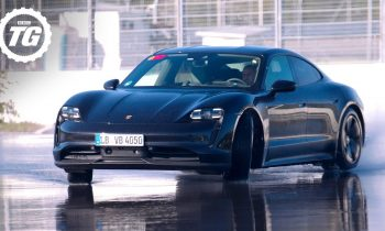 Chris Harris Drives RWD Porsche Taycan: World's Longest EV Drift Record Attempt | Top Gear