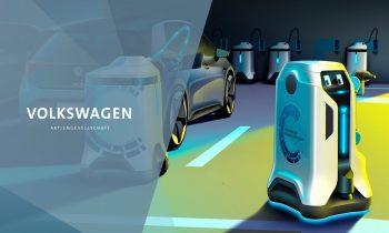 Volkswagens Mobiler Laderoboter | Volkswagen's Mobile Charging Robot