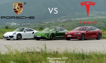 Tesla Model S P100D vs Porsche Taycan Turbo S Drag Race!