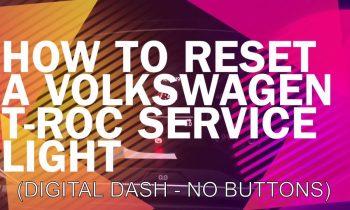 How to reset a VW T-Roc service light (All Digital Dash) – VOLKSWAGEN