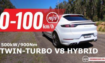 2020 Porsche Cayenne Turbo S E-Hybrid 0-100km/h & engine sound
