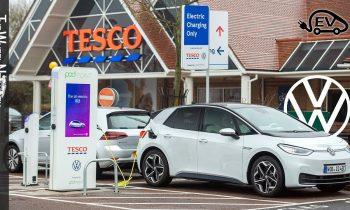 Volkswagen and Tesco free EV charging network