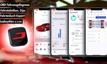Die NEUE TESLA APP – OBD Fahrzeugdiagnose, Fahrstatistiken, Fahrtenbuch u.v.m.   Tips, Tricks & More